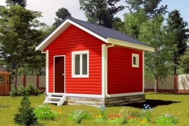 Дом дачный 4х4 м