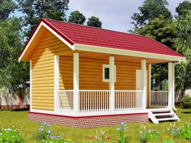 Дом дачный 5х6 м с верандой