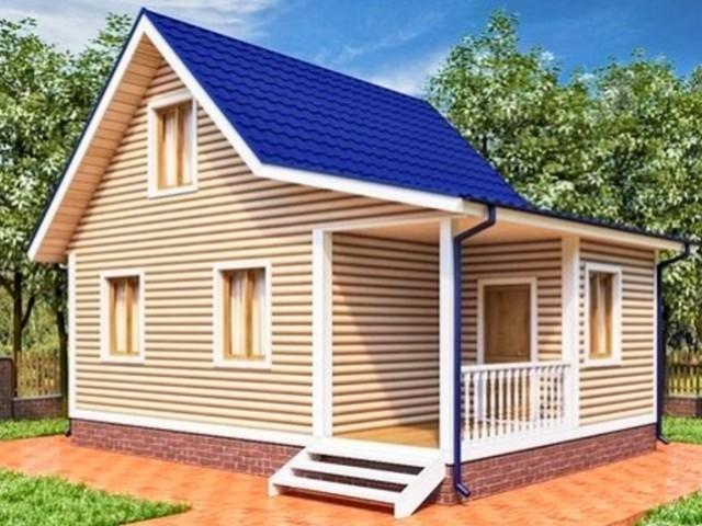 Дом дачный 6х8 м
